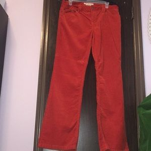 Tommy Hilfiger orange corduroy pants. Size 12.